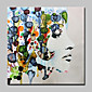 Oil Painting Hand Painted - People Abstract Modern Canvas 3204