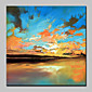 Oil Painting Hand Painted - Abstract Landscape Abstract Modern/Contemporary Canvas 3204