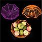 Halloween Decorative Spider Fruit Plate/Bar KTV Layout/Candy Biscuit Fruit Basket 3204