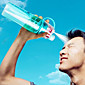 Hot New Creative Portable 2in1 Sports Drink Shaker Atomizing Spray Water Bottle Cup Straw Leak-Proof Tumbler Outdoor Sports Gym Drinkware 600ML 3204