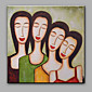 Hand-Painted Abstract Simple Portrait Decoration Oil Painting 3204