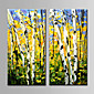 Hand-Painted  Abstract Landscape by Knife Oil Painting Set of 2 With Stretcher For Home Decoration Ready to Hang 3204