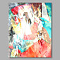 Oil Painting Hand Painted - Abstract Abstract Modern / Contemporary Canvas 3204