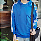 Men's Daily Hoodie Solid Striped Hooded Micro-elastic Cotton Long Sleeve Fall 3204
