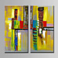 Hand-Painted  Abstract Oil Painting Set of 2 With Stretcher For Home Decoration Ready to Hang 3204