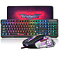 Wired Mouse keyboard combo with Mouse Pad DPI Adjustable Backlit USB Port Gaming keyboard 3204