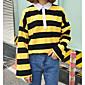 Women's Going out Sweatshirt Striped Shirt Collar Micro-elastic Cotton Long Sleeve Spring 3204