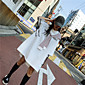 Women's Casual/Daily Cute T-shirt,Striped Print Color Block Hooded Short Sleeves Cotton 3204