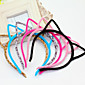 Plush Cat Ears Hair Hoop Harajuku Wind Genuine Fine Head Hoop Small Demon Cat Press Hair Ornaments Hairpin Hairpin 5PCS 3204