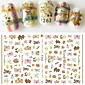 1pcs New Nail Art DIY Beauty Design Lovely Bear Doll Cartoon Animal Cute Pet Cute Decoration Nail Art 3D Sticker F263 3204