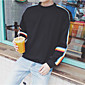 Men's Going out Sweatshirt Striped Round Neck Micro-elastic Polyester Long Sleeve Spring Fall 3204