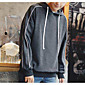 Men's Casual/Daily Hoodie Print Hooded Micro-elastic Cotton Polyester Long Sleeve Fall 3204