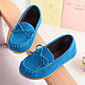 Boys' Shoes Suede Summer Fall Moccasin Comfort Loafers  Slip-Ons Bowknot For Casual Party  Evening Wine Blue Brown Fuchsia Yellow 3204