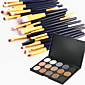 15 Color Eyeshadow Eyebrow Powder Cosmetic Palette  20 Eyeshadow Eyebrow Makeup Brush Set 3204