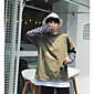 Men's Casual/Daily Sweatshirt Striped Letter Round Neck Micro-elastic Cotton Polyester Long Sleeve Fall 3204