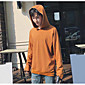 Men's Casual/Daily Hoodie Solid Hooded Micro-elastic Cotton Polyester Long Sleeve Fall 3204