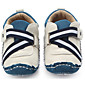 Baby Shoes PU Spring Fall First Walkers Flats For Casual Brown White 3204
