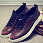 Men's Nappa Leather Fall / Winter Comfort Sneakers Black / Brown / Red 3204