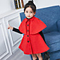 Girls' Solid Suit  Blazer,Polyester Fall Winter Half Sleeves 3204