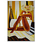 Hand-Painted People Vertical Panoramic,Others One Panel Canvas Oil Painting For Home Decoration 3204