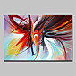Oil Painting Hand Painted - Abstract Abstract Modern Canvas 3204