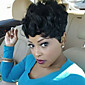Women Human Hair Capless Wigs Black Short Jerry Curl Curly Hot Sale 3204