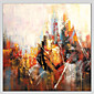 Hand-Painted Abstract Square,Abstract Realism Pastoral 14pcs Canvas Oil Painting For Home Decoration 3204