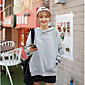 Women's Casual/Daily Hoodie Letter Hooded Micro-elastic Polyester Long Sleeve Fall 3204