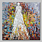 Hand-Painted People SquareSimple Modern Canvas Oil Painting For Home Decoration One Panel 3204