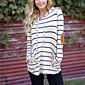 Women's Long Sleeves Long Hoodie - Striped 3204