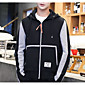 Men's Going out Hoodie Solid Color Block Hooded Micro-elastic Polyester Long Sleeve Winter Fall 3204