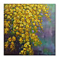Hand-Painted Abstract Floral/Botanical Square, Comtemporary Modern Canvas Oil Painting Home Decoration One Panel 3204