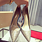 Women's Shoes Satin Summer Comfort Heels Stiletto Heel Gold 3204
