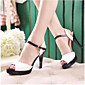 Women's Shoes PU(Polyurethane) Summer Comfort Sandals Stiletto Heel White / Blue / Pink 3204