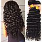 Brazilian Hair / Deep Wave Wavy One Pack Solution Human Hair Weaves Newborn / Extention / Sexy Lady Natural Black Women's 3204