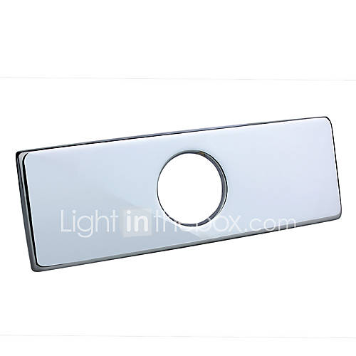 4 Quot Polished Chrome Sink Hole Rectangular Cover Deck Plate