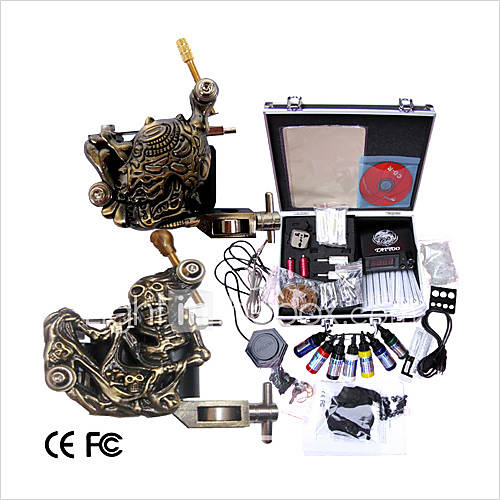 professional tattoo machine kit completed set with 2 tattoo machines 92583 2017. Black Bedroom Furniture Sets. Home Design Ideas