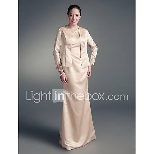 LOKI - Robe de Mère de Mariée Satin Tulle - Châle Inclus