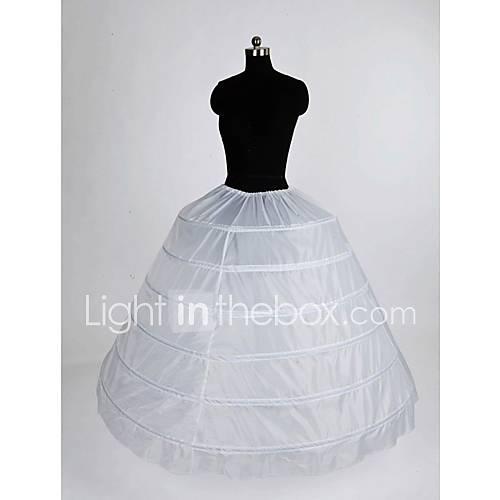 Nylon ball gown full gown 1 tier floor length slip style for Full length slip for wedding dress