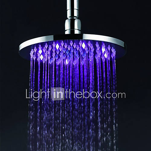 Contemporary Rain Shower Chrome Feature For Led Rainfall