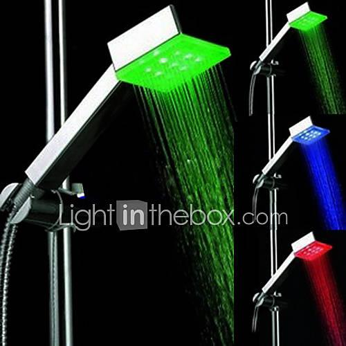 Contemporáneo Ducha de mano Cromo Característica for  LED , Alcachofa de la ducha