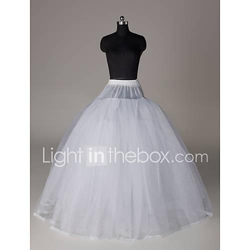 Nylon ball gown full gown 4 tier floor length slip style for Full length slip for wedding dress
