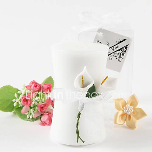 Vase en forme de bougie, Calla Lily élégance »favorise