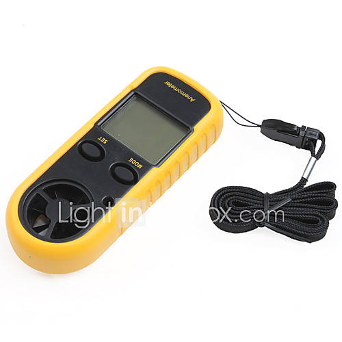 Smart-Sensor 1,5 LCD digital Windgeschwindigkeit Anemoskop  Wind Chill-Thermometer