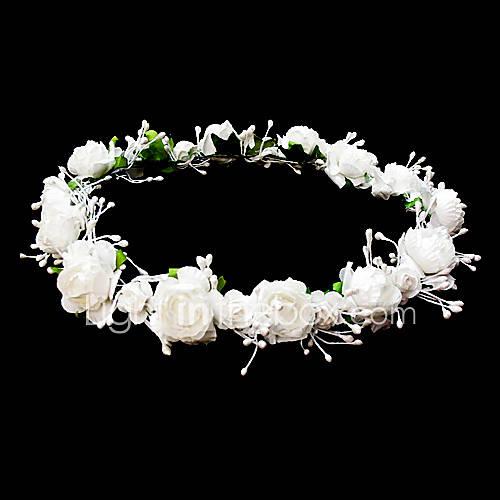 Flower Wreaths For Weddings: Headpieces Wedding Flower Girl Wreath With Lovely Flowers