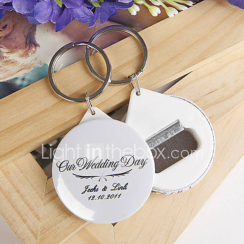 personalized bottle opener key ring our wedding day set of 12 222234 2017. Black Bedroom Furniture Sets. Home Design Ideas