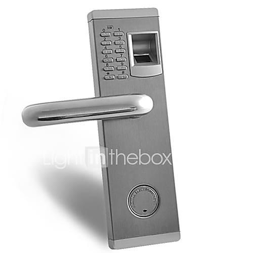 premium biometric fingerprint and password door lock with. Black Bedroom Furniture Sets. Home Design Ideas