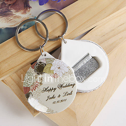 personalized bottle opener key ring elegant flower set of 12 222245 2016. Black Bedroom Furniture Sets. Home Design Ideas