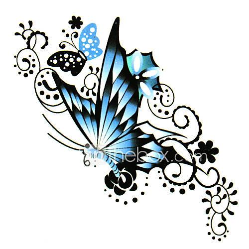 5 piezas de mariposa tatuaje temporal a prueba de agua (6 m  6 cm) Descuento en Lightinthebox