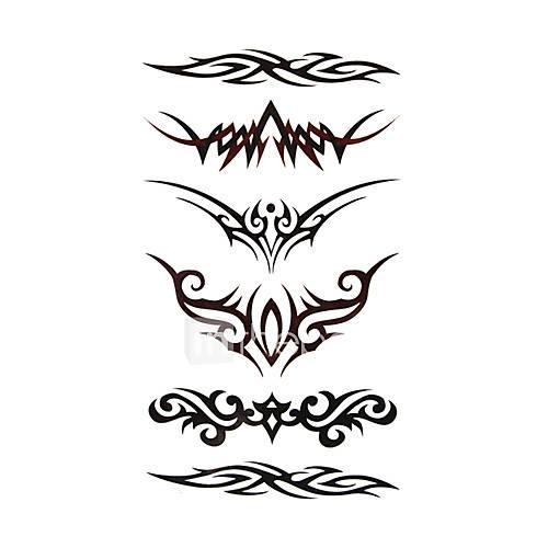 5 piezas de tatuajes temporales a prueba de agua (17,5 cm  10cm) Descuento en Lightinthebox